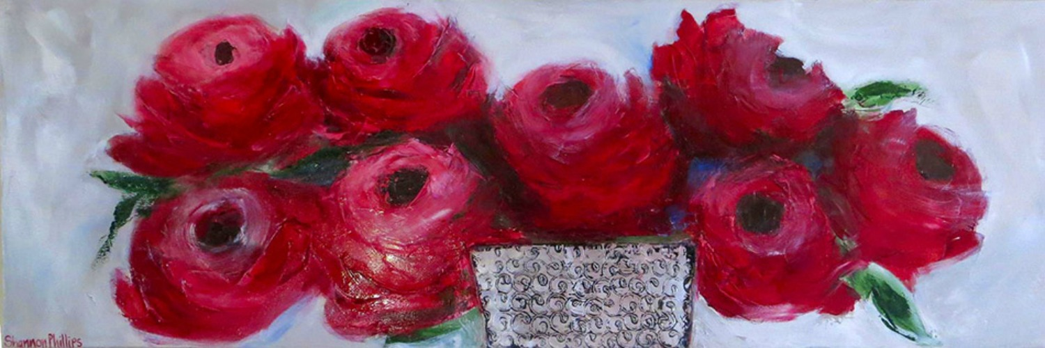 Large red roses